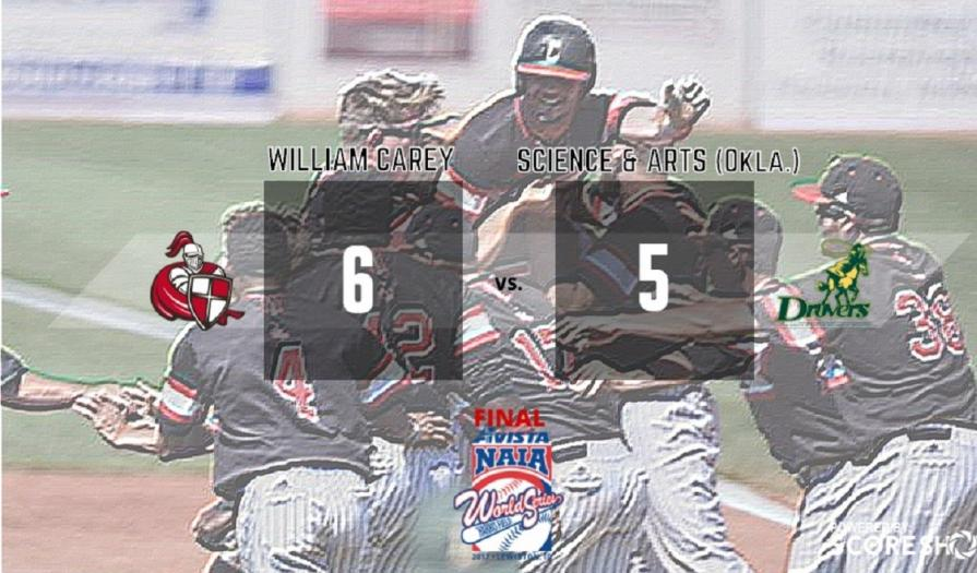 Carey Rallies with Four Runs in the 9th to Defeat USAO, 6-5
