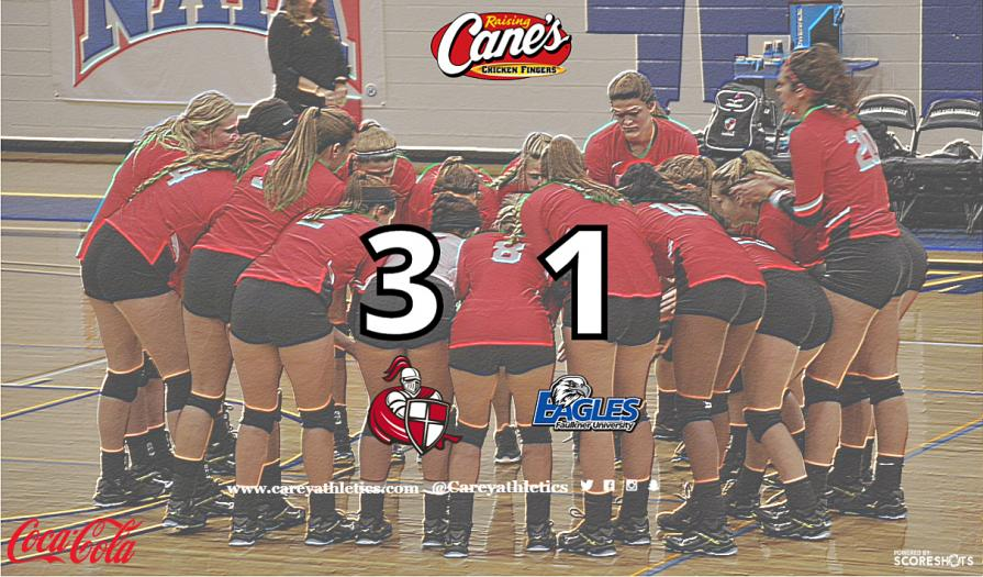 Lady Crusaders Defeat Faulkner in the SSAC Volleyball Game of the Week
